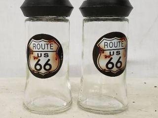Route 66 Salt N Pepper Shakers