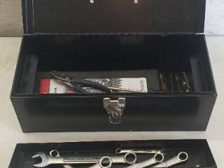Tool Box and Contents  Includes 20 Craftsman Wrenches