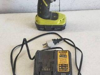 Dewalt Battery Charger  Bonus Ryobi Drill