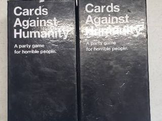 Cards Against Humanity  Fun Adult Party Game  2 Card Sets