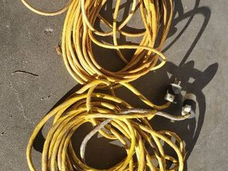 2 Extension Cords  Unkown length