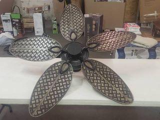 Harbor Breeze Tilghman II 52 in Bronze Indoor Outdoor Ceiling Fan  5 Blade