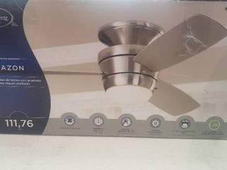 Mazon 44 in Brushed Nickel Flush Mount Indoor Ceiling Fan