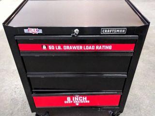 CRAFTSMAN 1000 Series  26 5  W x 32 5  H  locking 4 Drawer Steel Rolling Tool Cabinet   Model   CMST22741BK