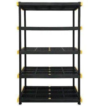 Commander 20  D x 48  W x 72  H   5 Tier Plastic Utility Freestanding Shelving Unit
