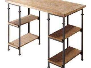 Homelegance Factory 5  Metal Frame Writing Desk  Rustic Brown   Missing Hardware
