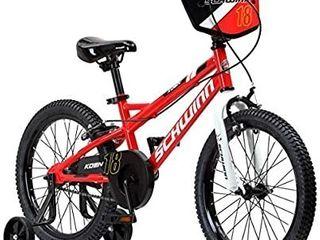 Schwinn Koen 18  Wheels   Boys Bike   Smart Start Frame  Balance Training Wheels    Adjustable Seat   For Ages 5   7 or 42    52  Tall