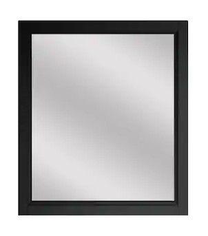 Scott living Canterbury   Wood Frame   28  x 32  Black Bathroom Mirror