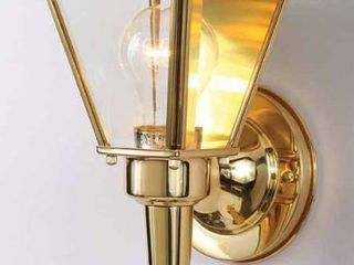 Volume lighting Model  V9510 2 Polished Brass Outdoor Wall Sconce   Clear Beveled Glass