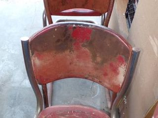 3 OlD METAl CHAIRS