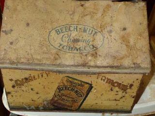 BEECHNUT CHEWING TOBACCO TIN BOX