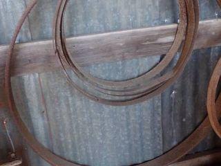 lARGE AND MED  METAl WHEEl RINGS