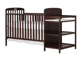 Dream On Me  Anna 4 in 1 Full Size Crib and Changing Table Combo  Espresso  ONE Size