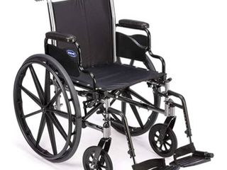 Invacare Tracer SX5 Wheelchair  with Desk length Arms and T93HCP Hemi Footrests with Heel loops  22  Seat Width