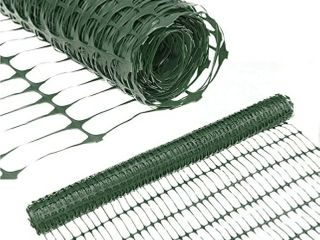 Abba Patio Snow Fence 4  X 100  Feet Plastic Safety Fence Roll Temporary Poultry Fencing Mesh Economy Construction Fencing for Deer  lawn  Rabbits  Chicken  Poultry  Dogs  Green  1 25  Mesh