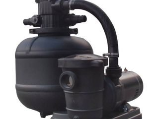 FlowXtreme NE4499 Pro 2 19 in 150lb Sand Filter System 2SP Pump for AG Pools  5280 2400 GPH 1HP