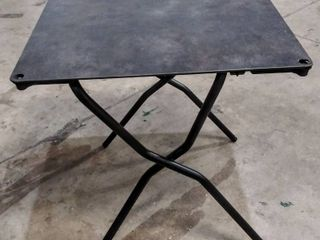 High Pressure laminate Durable   lightweight Folding Table w Steel Frame  Corner Attachments are Broken   Please See Photos