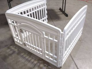 IRIS USA 24  W x 34  l  3 Panels Only  Exercise Pet Playpen with Door  White Cl 604E  586680