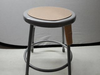Wood   Metal Shop Stool with Extra Parts