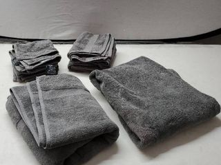 White Classic luxury Grey Bath Towel Set   Combed Cotton Hotel Quality Absorbent 8 Piece Towels   2 Bath Towels   2 Hand Towels   4 Washcloths  Worth  72 95  Grey   8 Pack