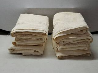 COTTON CRAFT Ultra Soft luxury Set of 8 Ringspun Cotton Towels  580GSM  Heavyweight  16 inch x 26 inch  Ivory