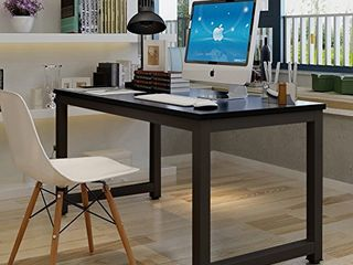 Tribesigns Modern Simple Style Computer Desk PC laptop Study Table Office Desk Workstation for Home Office  Black   Black leg