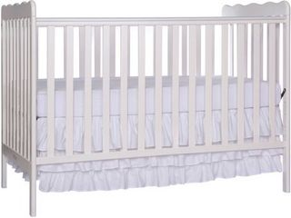 Dream On Me Classic 3 in 1 Convertible Crib   White