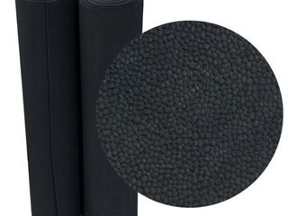 Rubber Cal Tuff N Elastic Black Rubber Flooring Mat   1 8 x 48 inch Rubber Runner