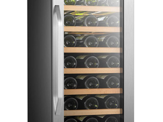 lanbo 15 inch 33 bottle Wine Fridge Cooler with Built in Compressor Retail 495 99