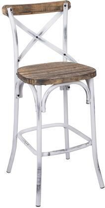 Zaire 96642 Walnut colored Antique White Steel and Wood Bar Chair Retail 117 49