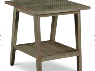 The Gray Barn Minett Solid Mango End Table