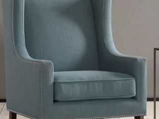 Madison Park Weston Blue Wing Chair