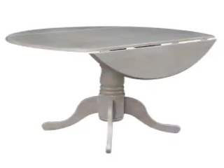 Round Dual Drop leaf Pedestal Dining Table