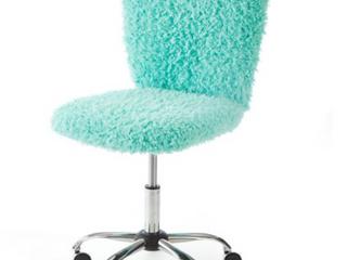 Urban Shop long Hair Soft Task Chair Mint