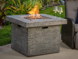 Dakota Outdoor Square Fire Pit by Christopher Knight