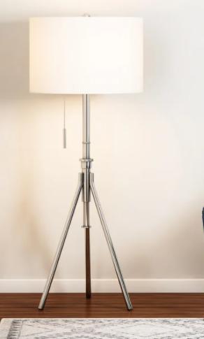 Strick   Bolton June Adjustable Brushed Steel Tripod Floor lamp Retail 119 99
