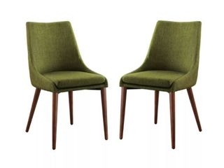 Set of 2 Palmer Chairs Green   OSP Home Furnishings