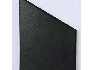 SomerTile 8 625x9 875 inch Textilis Black Hex Porcelain Floor and Wall Tile  25 tiles 11 56 sqft