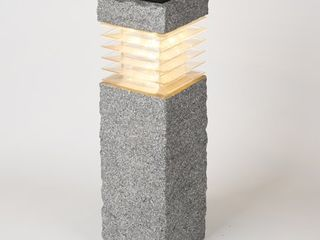 Faux Rock Post with Solar light  Retail 77 98