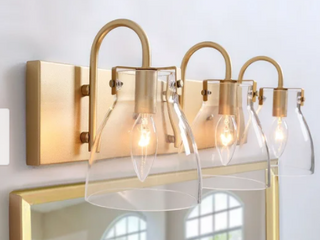 Modern 3 lights Bathroom Vanity lighting Golden Wall Sconce   l22 x H8 x E7  Retail 129 99