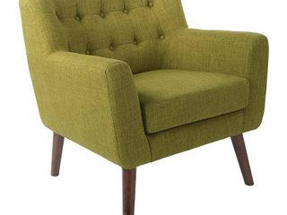 Mill lane Chair with Coffee legs Green   OSP Home Furnishings