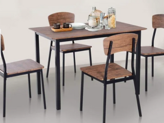 Carbon loft leunii 5 piece Modern Counter Height Dining Table and Chairs Set Retail 191 49