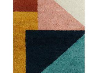 BAlTA Jordan Multicolor 5 ft  x 7 ft  Color Block Shag Area Rug