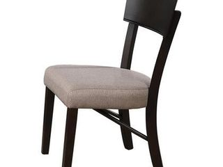 Pair of Greenwich Collection 109792 22  Side Chairs with Transitional Style Design and Upholstered in latte