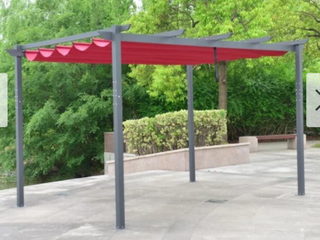 Amama Burgundy 13x10 Retractable Canopy Pergola by Havenside Home Retail 564 99