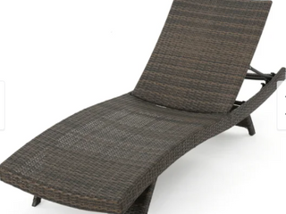 Thira Outdoor Aluminum Wicker Chaise lounge