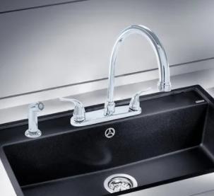 Hybrid Metal Deck Kitchen Sink Faucet