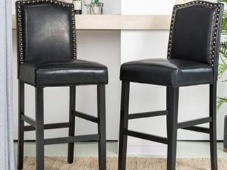 leatherette Barchair With Rubber Wood leg KD Spring Seat Set Of Two