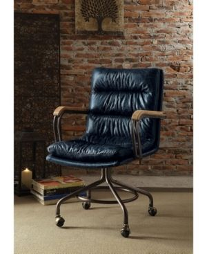 Acme Furniture Harry Office Chair  Vintage Blue leather