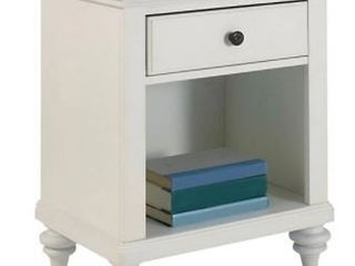 Bermuda Brushed White Nightstand by Home Styles